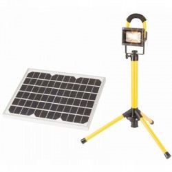 10W Portable Solar LED Worklight Kit with Tripod and Carry Case