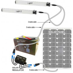 Double solar lights kit
