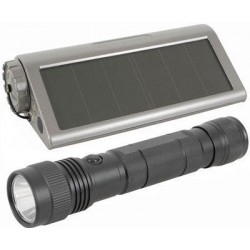 3W LED Torch with Solar Recharging Compartment